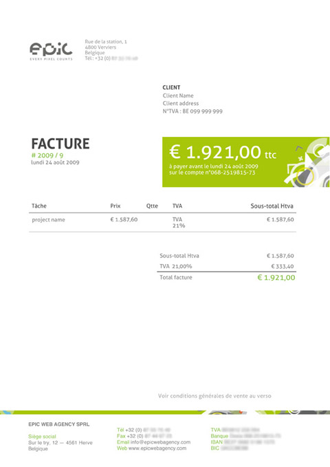 Invoice Like A Pro Design Examples and Best Practices \u2014 Smashing - Website Invoice