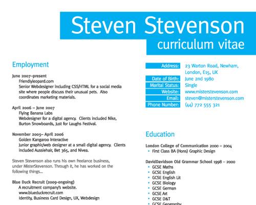 How To Create A Great Web Designer Résumé and CV? \u2014 Smashing Magazine - web resume