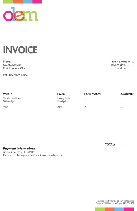 Invoice Like A Pro Design Examples and Best Practices \u2014 Smashing - how to type up an invoice