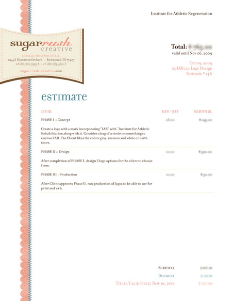 Invoice Like A Pro Design Examples and Best Practices \u2014 Smashing - graphic design invoice sample