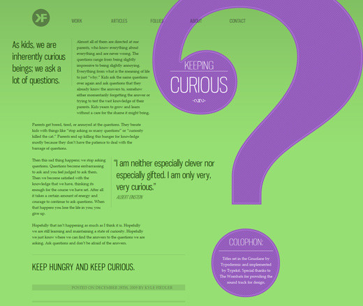 The Current State of Web Design Trends 2010 u2014 Smashing Magazine - good font size for resume