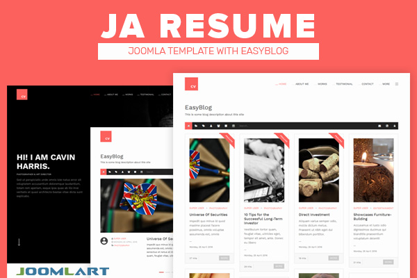 resume template joomla