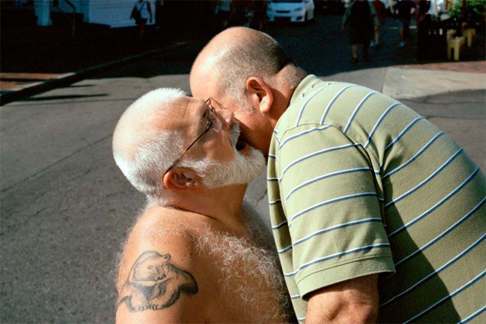 creepy old man fondling