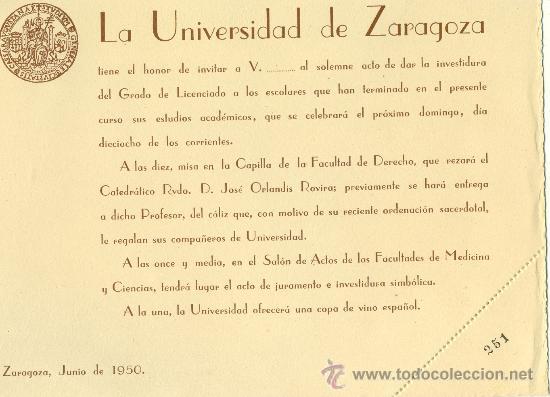 invitación graduación universidad de zaragoza \u2022 - Comprar en