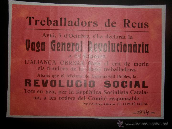 panfleto declaración vaga general revolucionàri - Comprar en