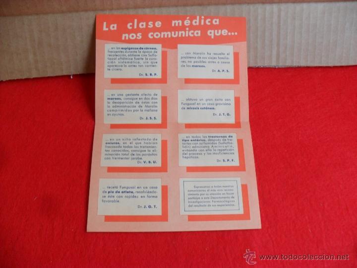 folleto,panfleto,publicidad medicina años 50 - Comprar en