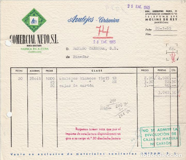 factura comercial neto, sl azulejos-cerámica - Buy Old Invoices