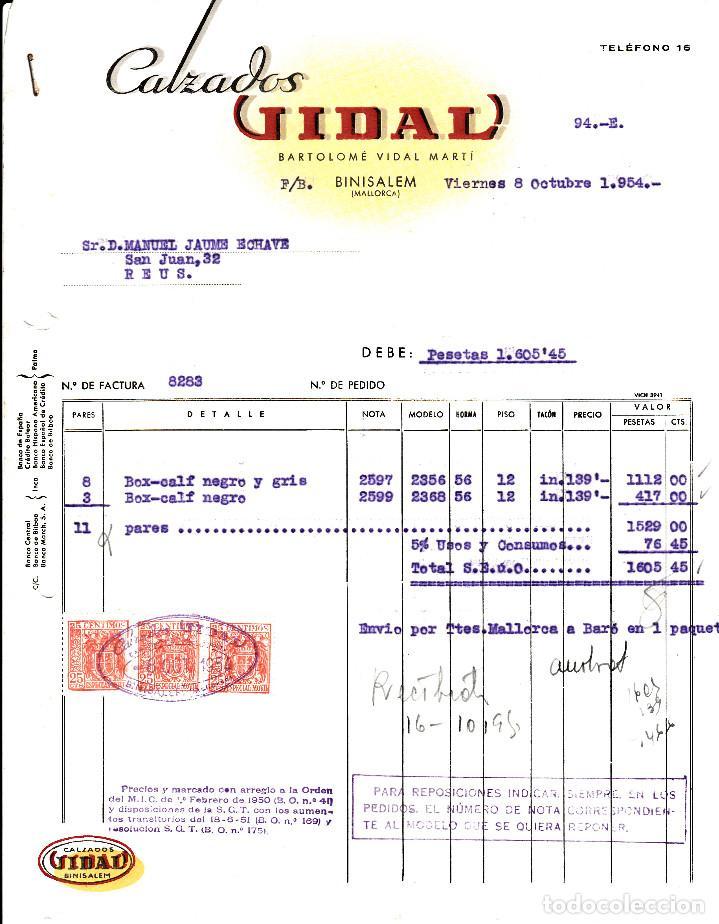 factura comercial calzados vidal en binisalem - - Buy Old Invoices