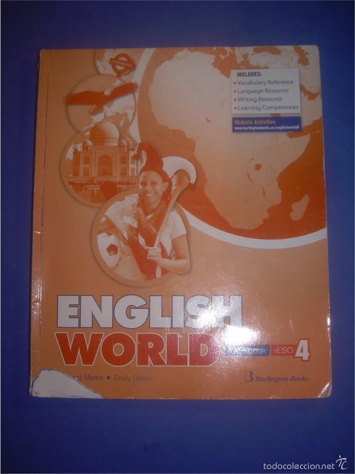 Libros De Texto 4 Eso English World. Workbook. 4 Eso. Burlington Book - Vendido