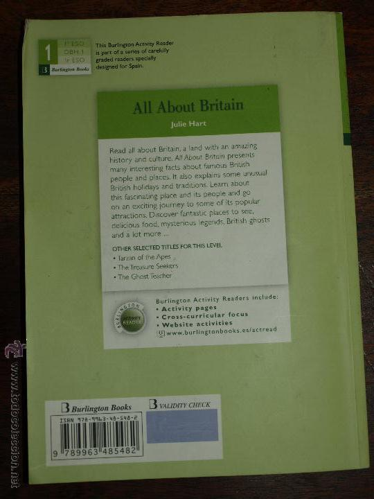 Comprar Libros 3 Eso All About Britain. Julie Hart. Libro En Ingles. - Comprar