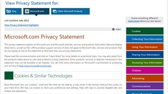 Microsoft Privacy Statements A New Look \u2013 Microsoft Secure - privacy statement