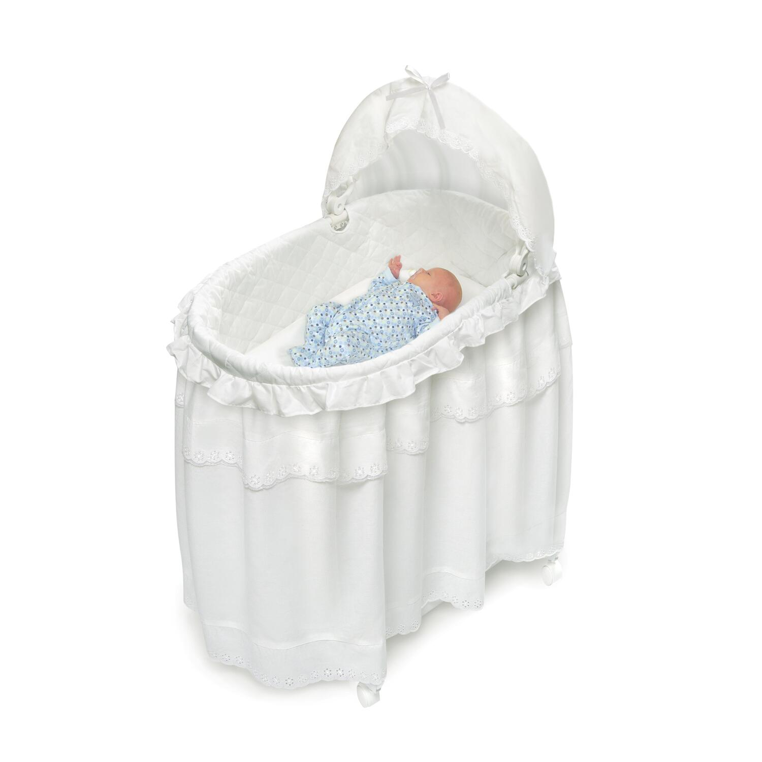 Baby Bassinet Cradle Badger Basket Portable Bassinet 39;n Cradle With Toybox Base
