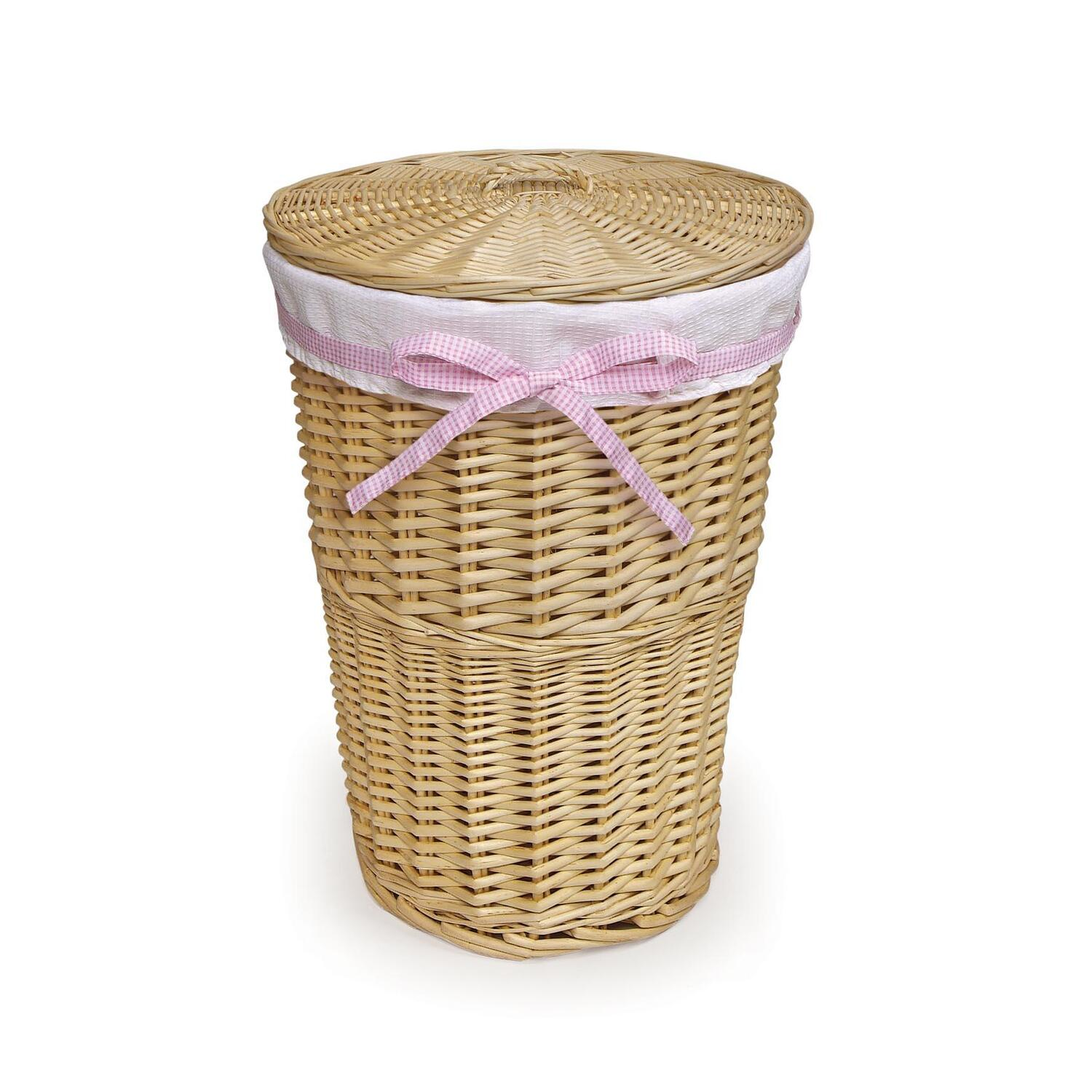 Animal Wicker Hamper Badger Basket Round Rattan Hamper By Oj Commerce 0193n