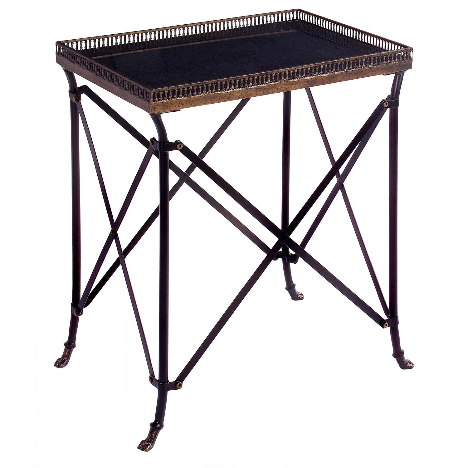 Small Rectangular Side Tables Imak Rectangular Black Accent Table By Oj Commerce 12003