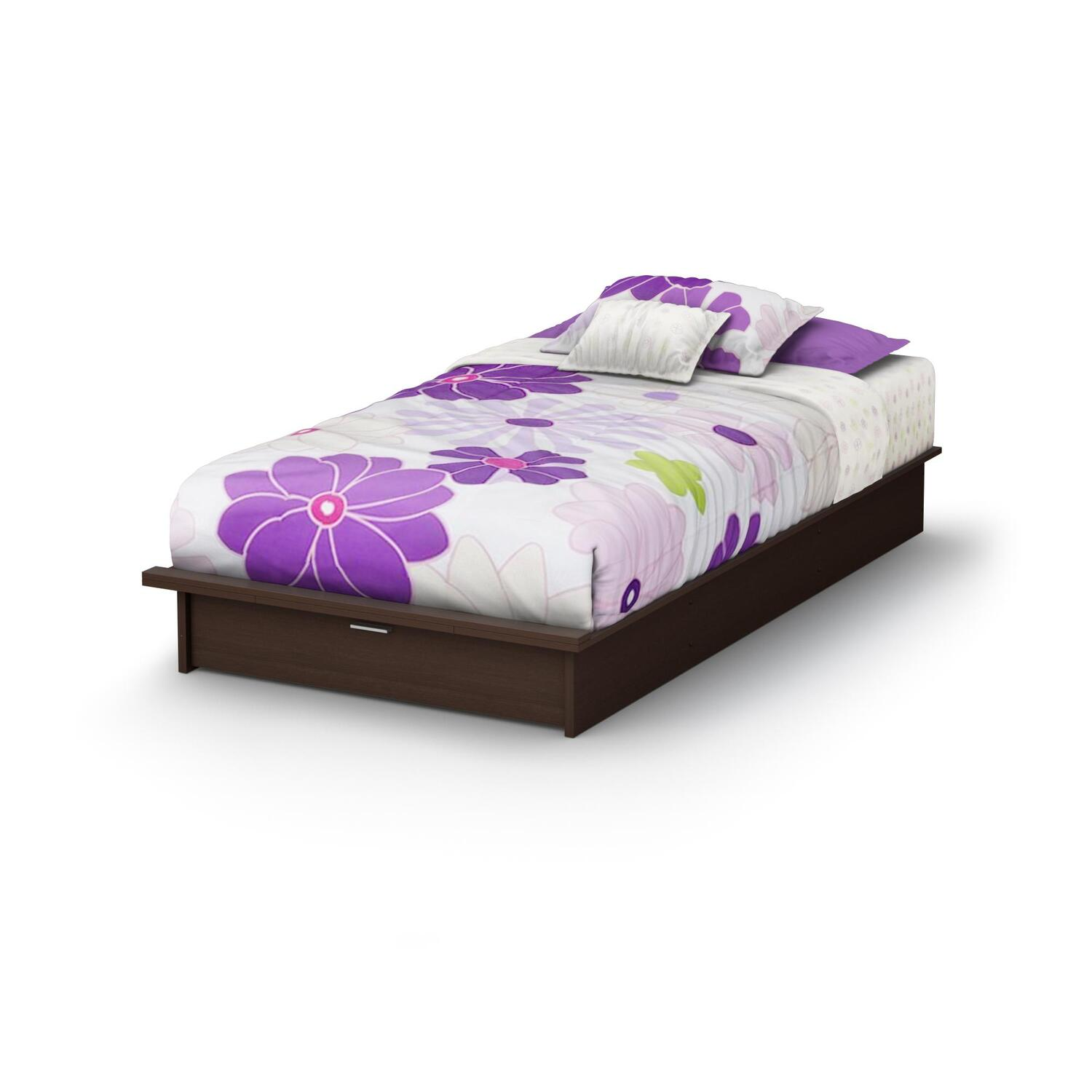 Twin platform bed with drawers viewing gallery