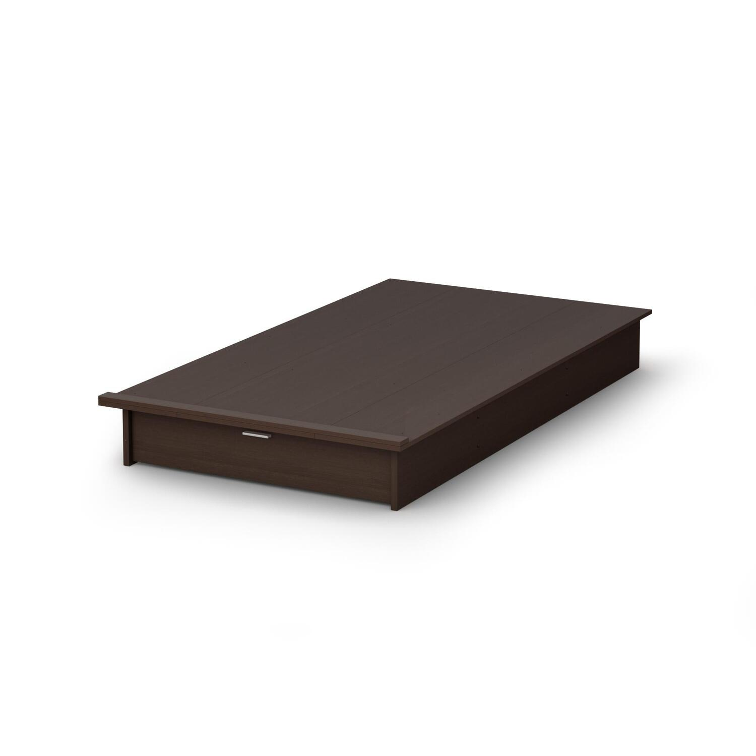 South shore libra twin platform bed 39 quot with drawer by