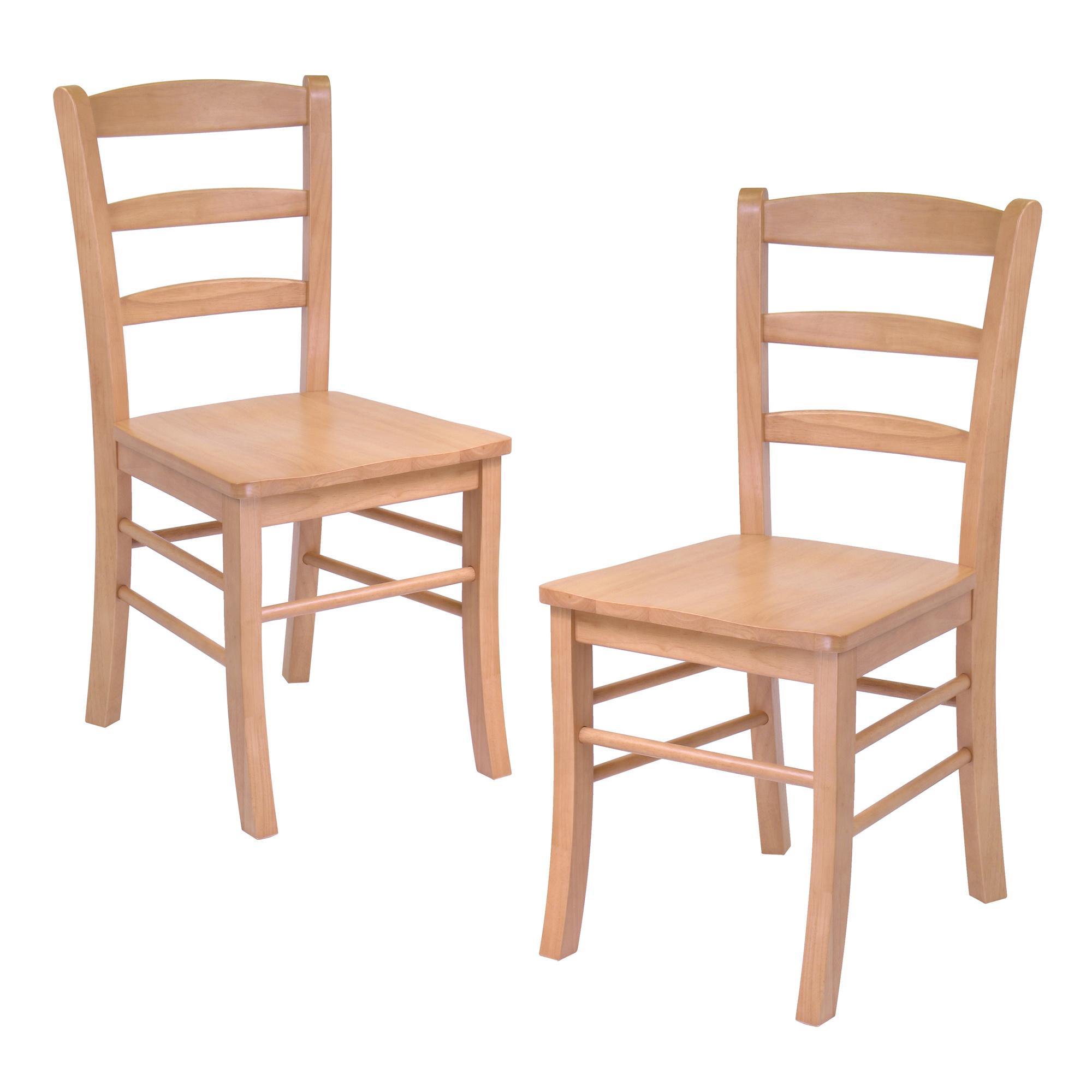 Chair Wooden Hannah Dining Wood Side Chairs In Light Oak Finish Set Of