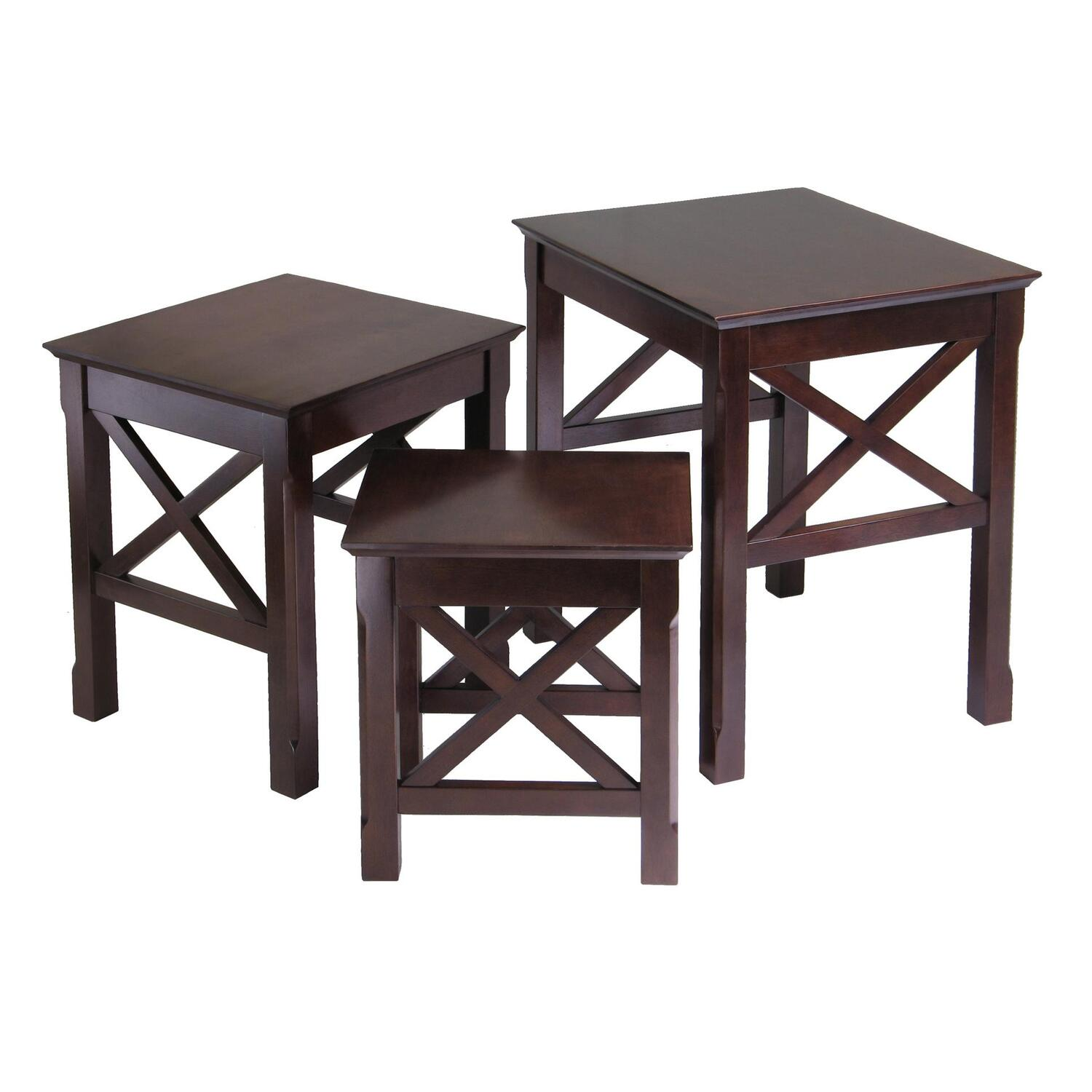 Stacking End Tables Winsome Xola 3pc Nesting Table By Oj Commerce 40333 113 23