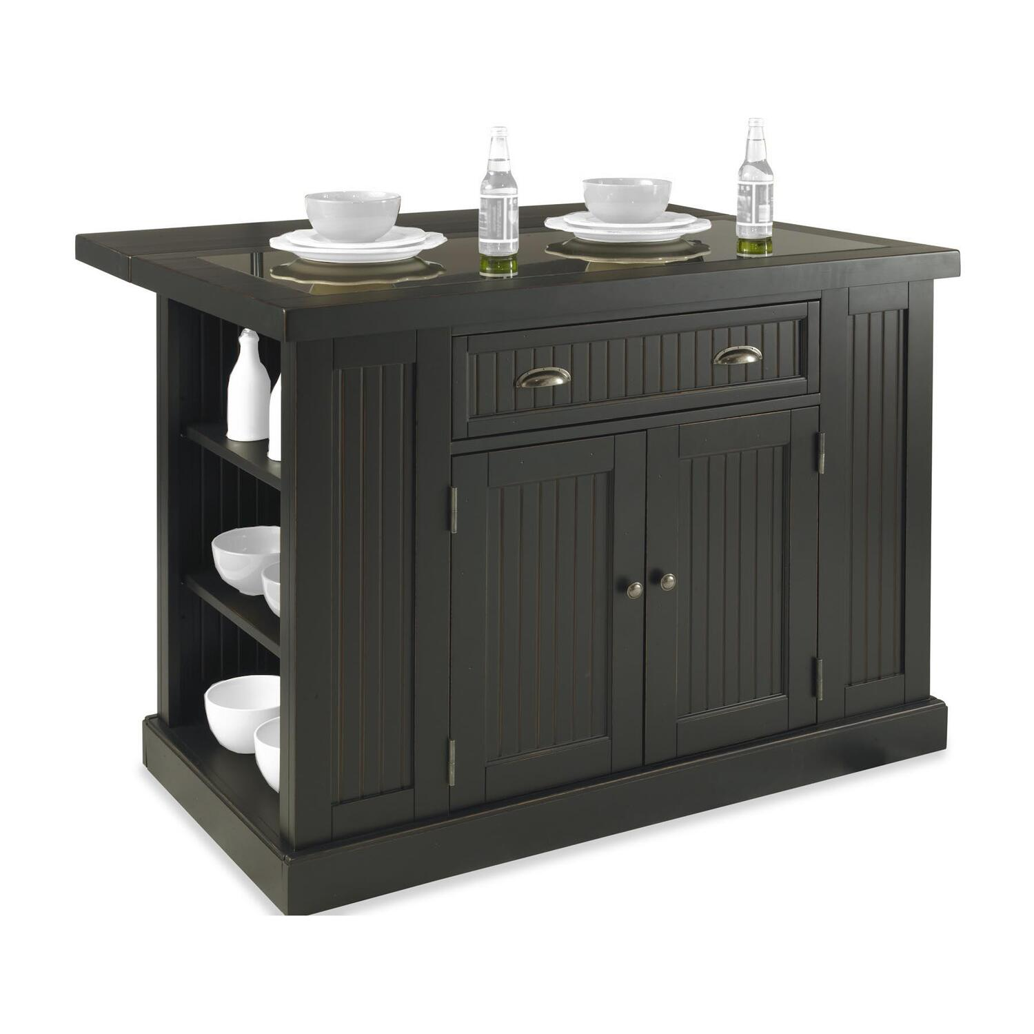 Nantucket Distressed White Finish Kitchen Island By Home Styles Nantucket Kitchen Island Distressed Finish | Ojcommerce