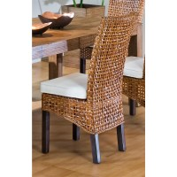 Pin Wicker-dining-chairs-indoor-rattan-chair-with-cushion ...
