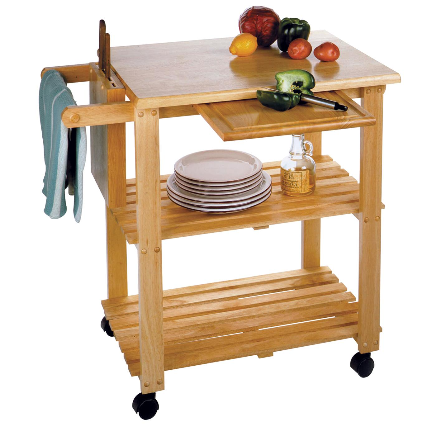 Cutting Board With Knife Holder Winsome Kitchen Cart With Cutting Board Knife Block And