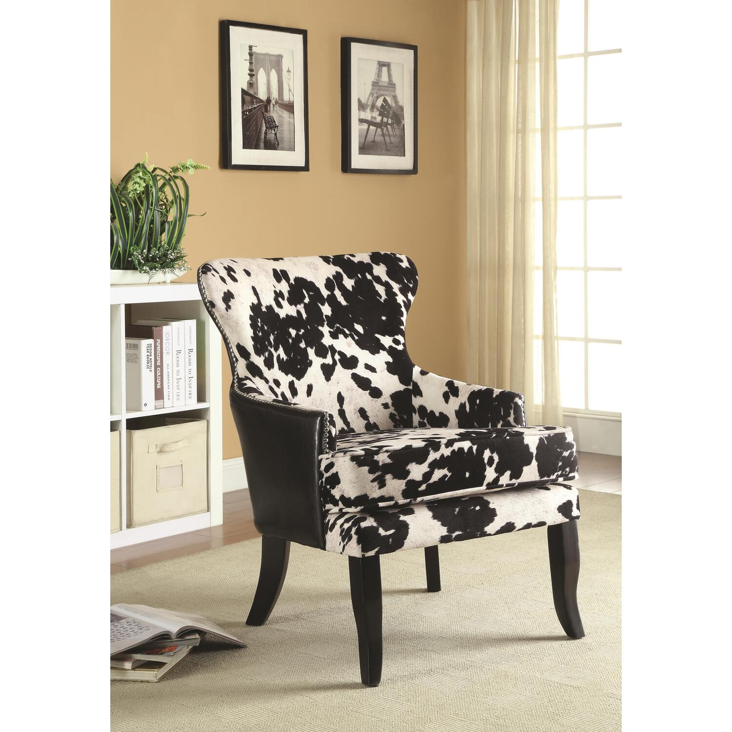 Black And White Accent Chair Details About Coaster Traditional Black And White Accent Chair