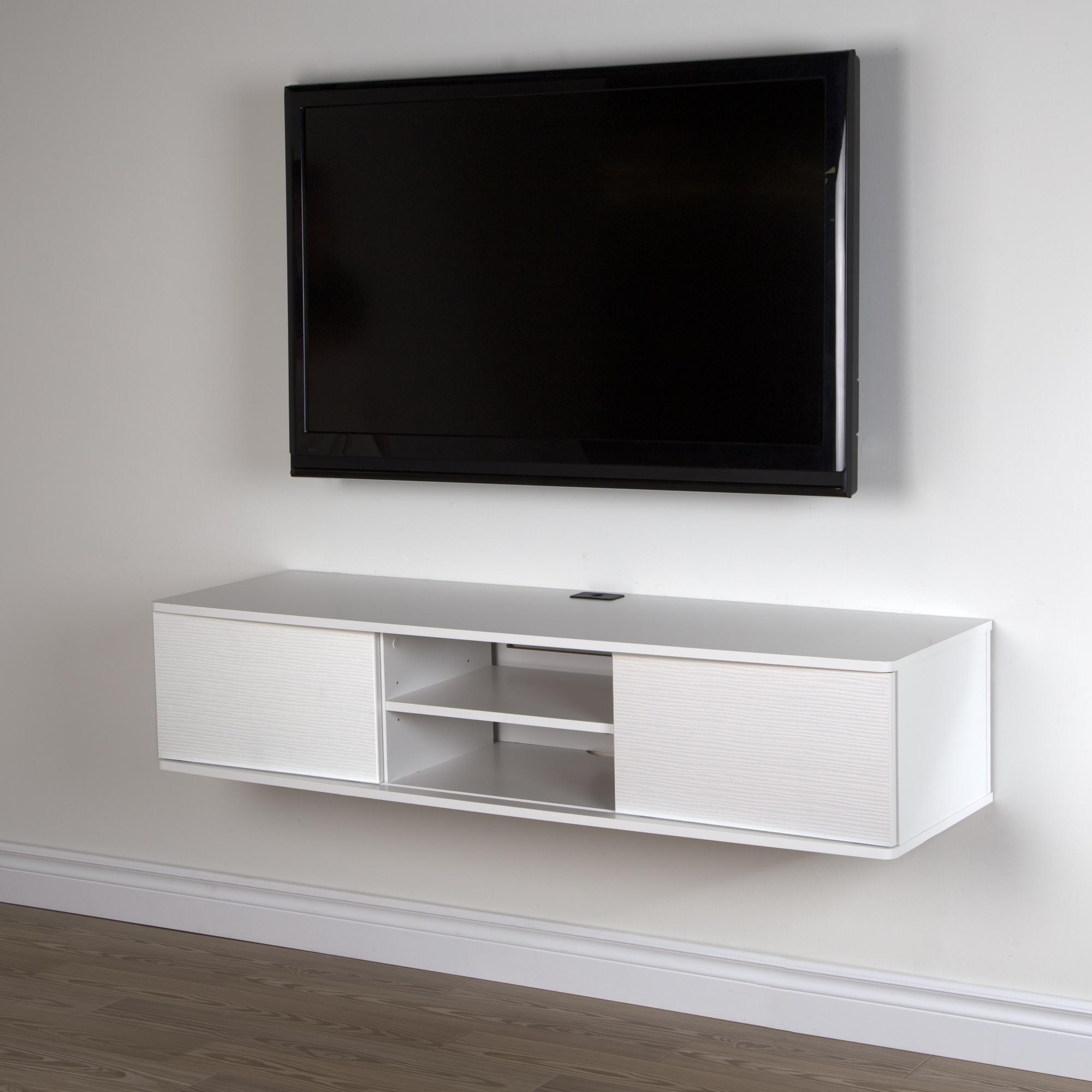 Hanging Media Console South Shore Agora 56 Quot Wide Wall Mounted Media Console By
