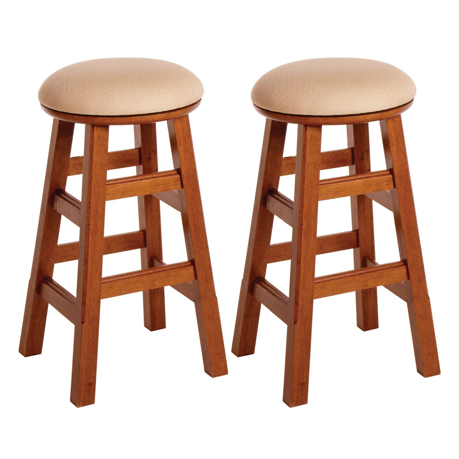 Padded Stool Set Of 2 26 Quot Padded Swivel Stool Assembled 96 99