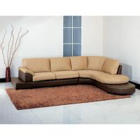 Abbyson Living Mocha Microsuede Sectional Sofa with ...