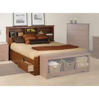 Storage Bed: Storage Bed And Bookcase Headboard