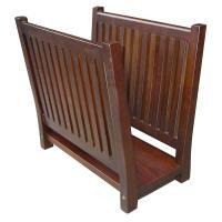 ORE International Wooden Magazine Rack by OJ Commerce ...