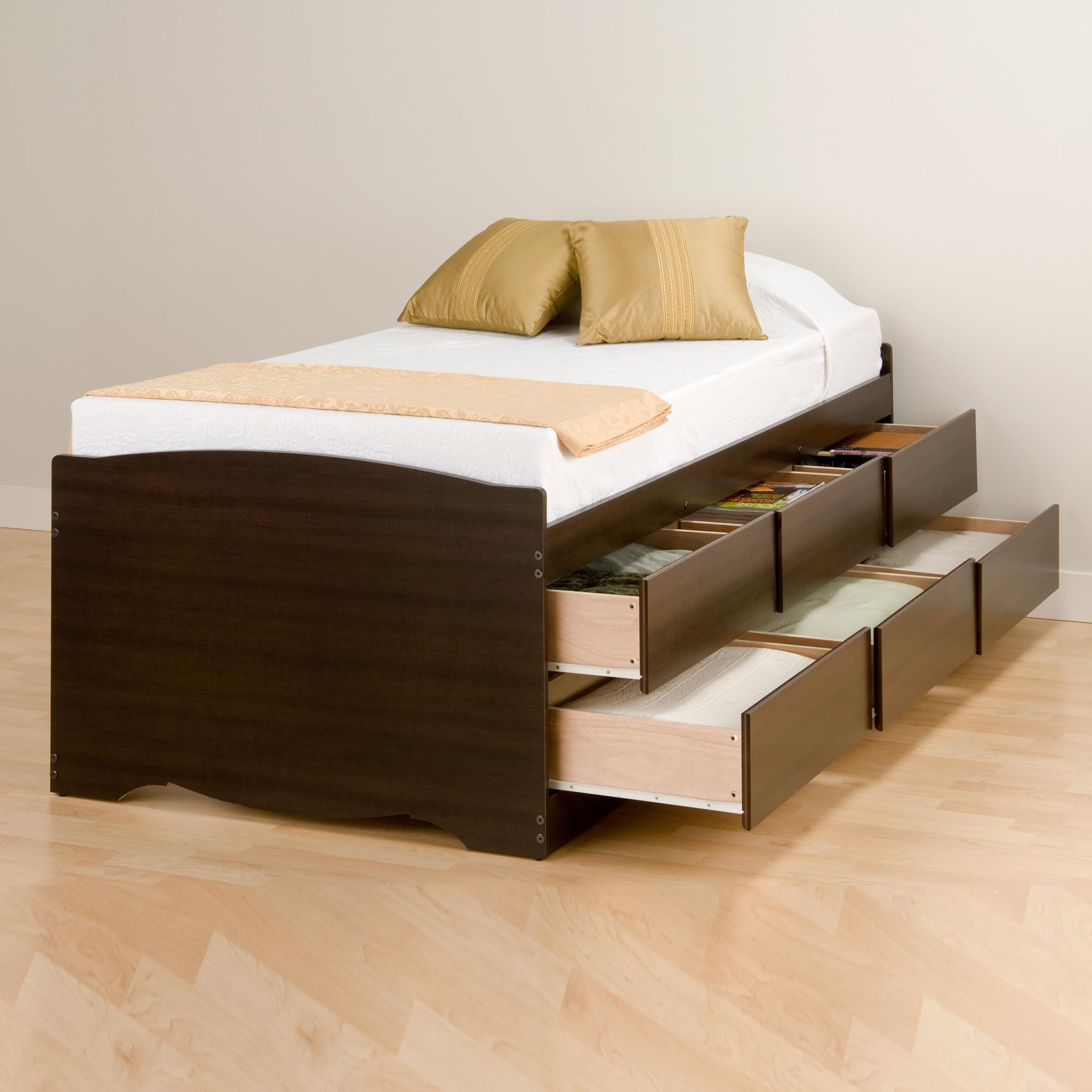 Prepac Twin 6 Drawer Tall Platform Storage Bed By Oj
