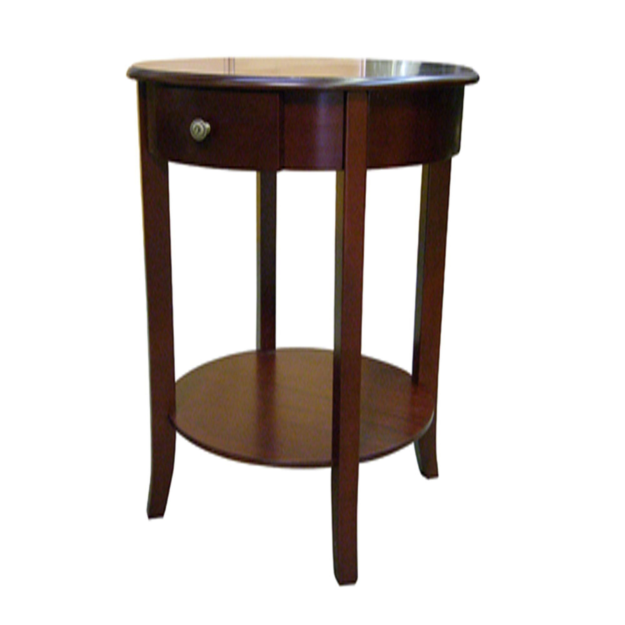 Finish Tables Ore International Polished Round End Table By Oj Commerce