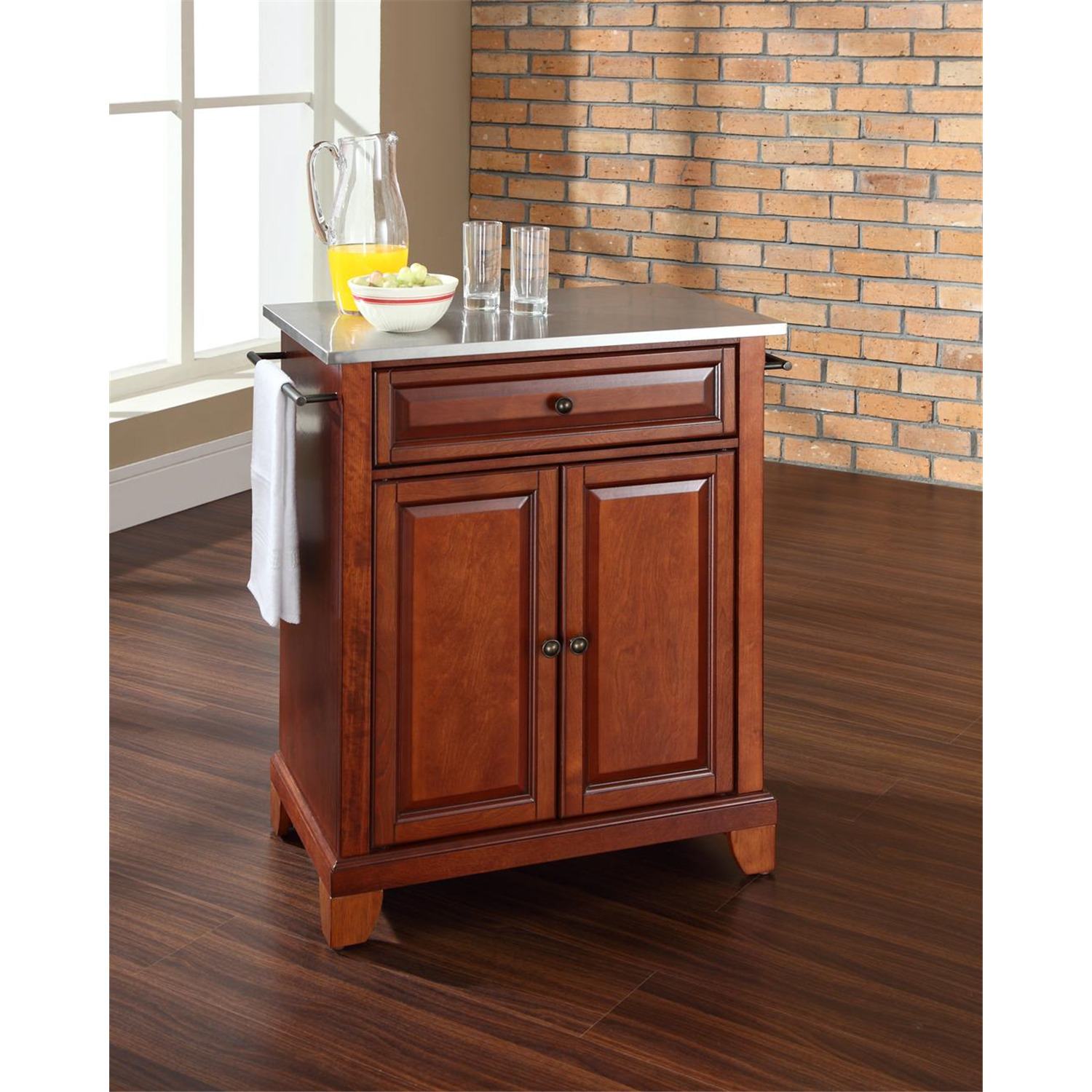 Kitchen Island With Locking Casters Crosley Newport Portable Kitchen Island By Oj Commerce