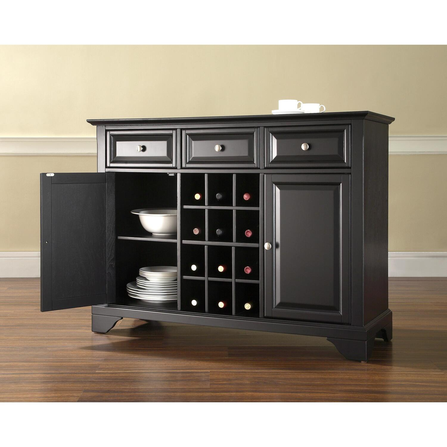 Small Wine Storage Cabinets Lafayette Buffet Server Sideboard Cabinet With Wine