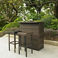 Palm Harbor 3 Piece Outdoor Wicker Bar Set - Table & Two ...