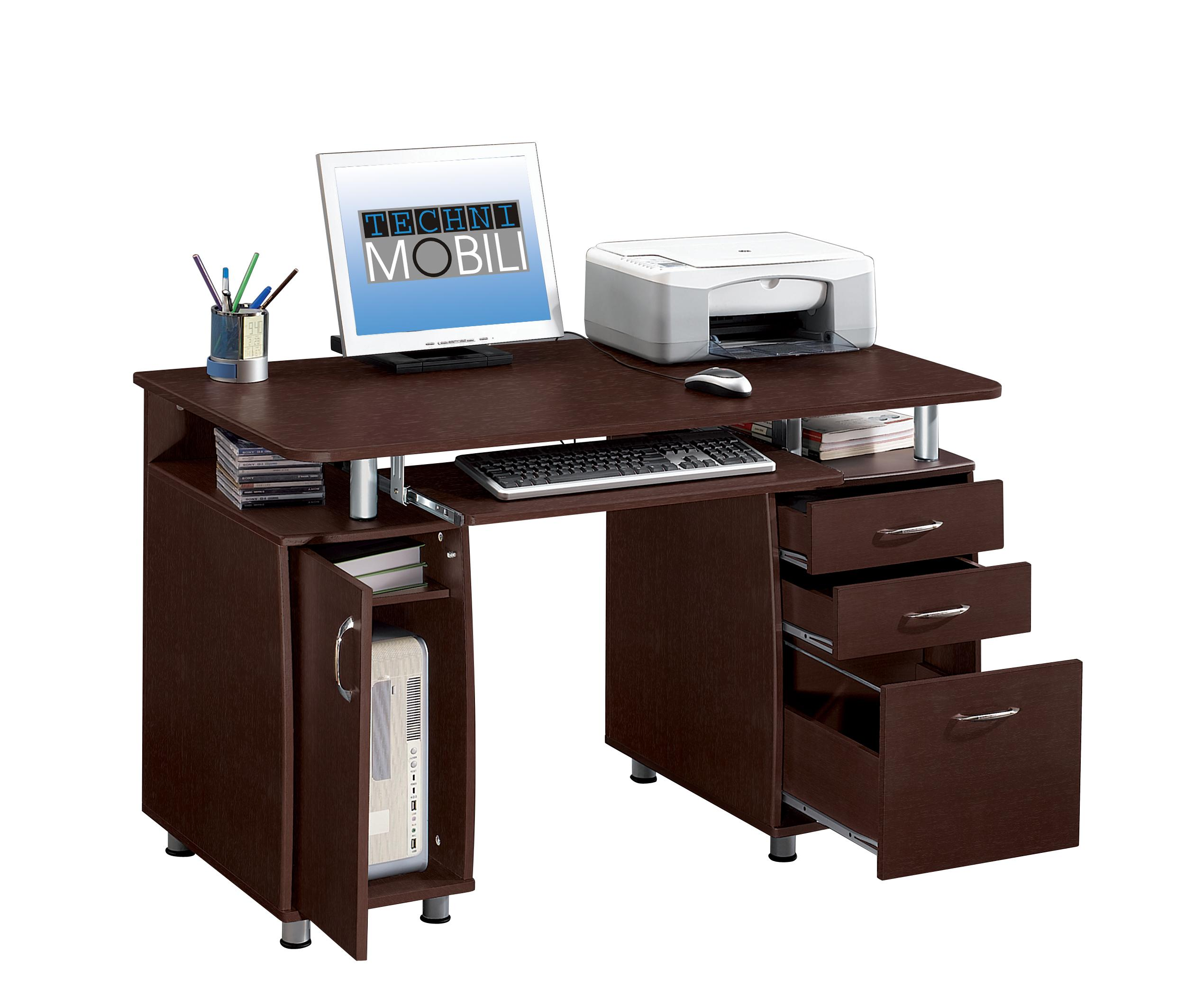 Workstation Furniture Techni Mobili Rta 4985 Ch36 Double Pedestal Multifunction