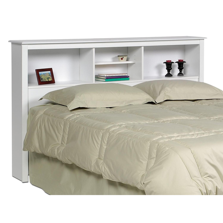 Monterey White Queen Bookcase Platform Storage Bed 674