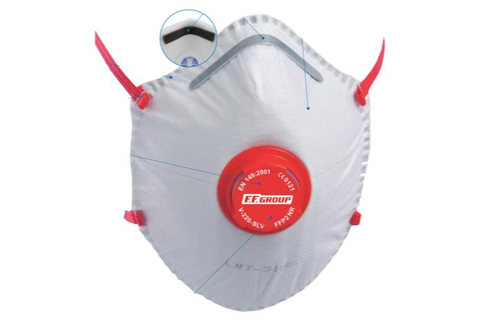 PARTICLE MASK WITH VALVE - liquid particles