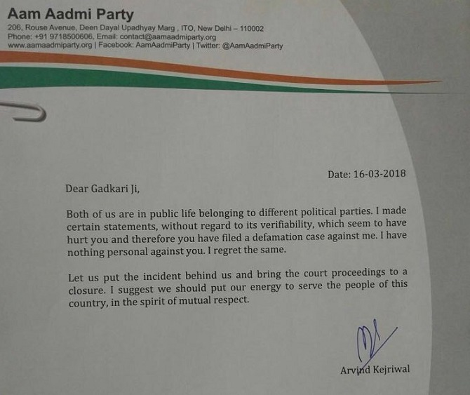 READ Full text of Delhi CM Arvind Kejriwal\u0027s apology letter to