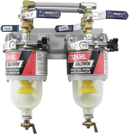 Baldwin Filters DAHL Fuel/Water Separator Unit, 12-1/2 In 100-MFV