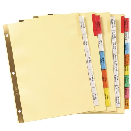 Avery Avery® Big Tab™ Insertable Plastic Dividers 11901, 8 - folder dividers tabs