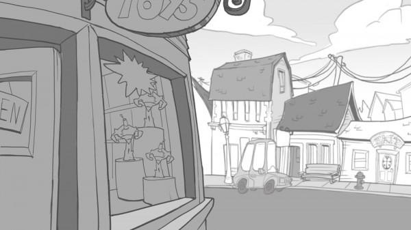 Background Design Process CloudKid - background sketches
