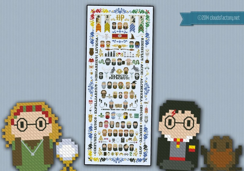 Large Of Harry Potter Cross Stitch