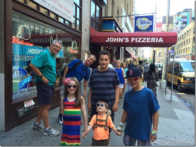 Friends at John's Pizzeria