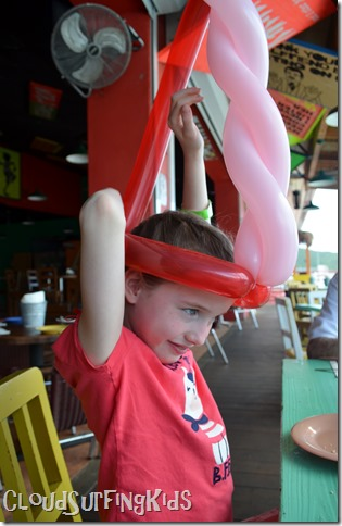 Charlotte Amalie Senor Frogs Tall Balloon Hat