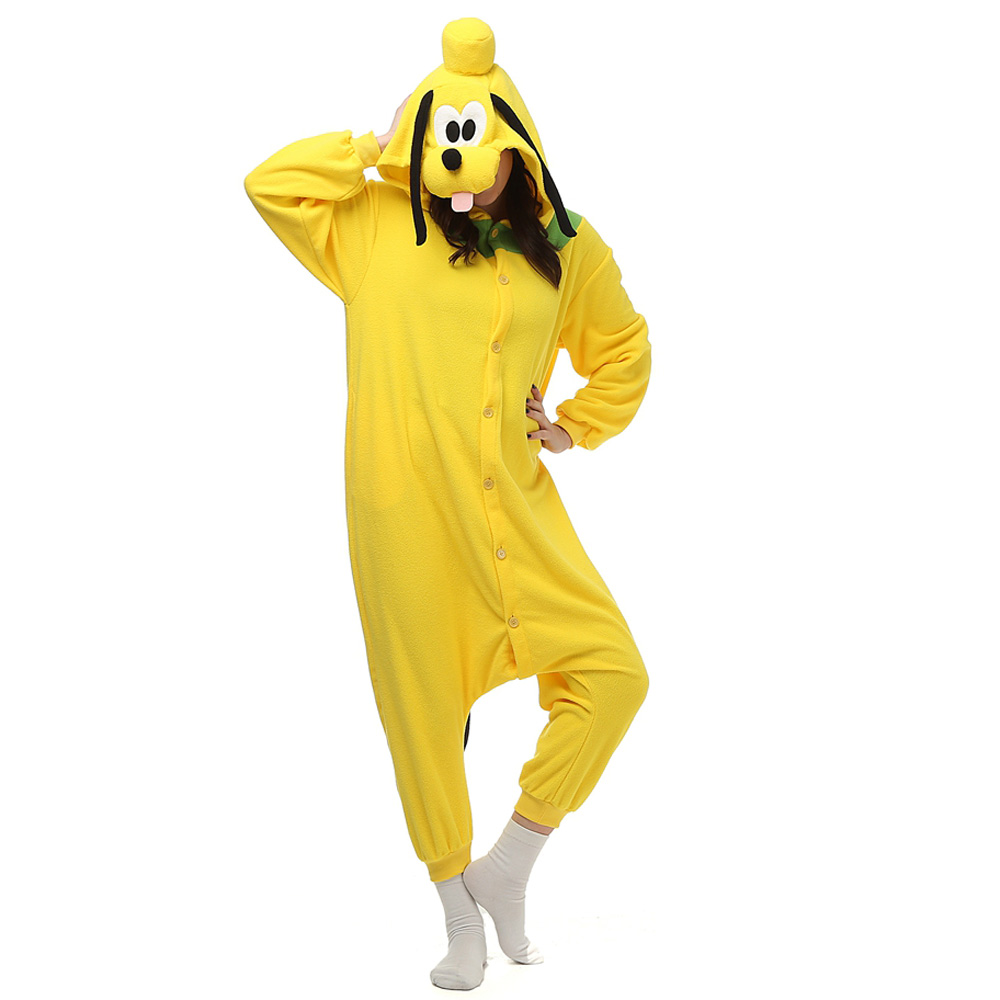 Pluto Dog Kigurumi Costume Unisex Fleece Pajamas Onesie