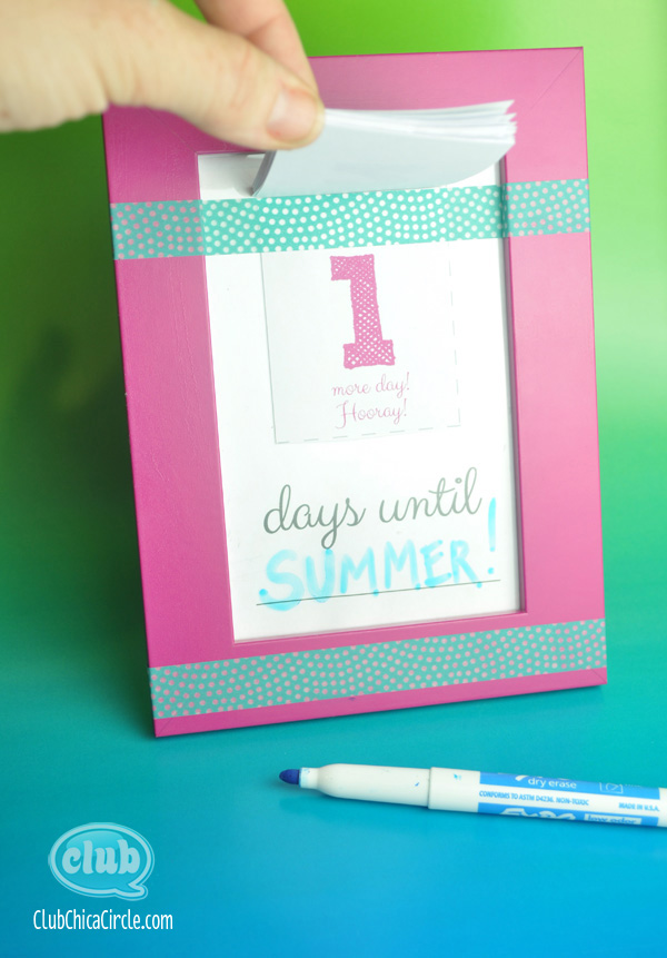 Make Your Own Countdown Calendar and Notepad