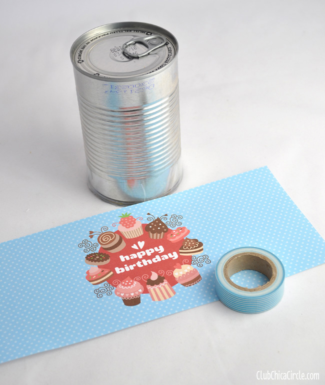 Birthday Cake In A Can Tutorial - The 36th AVENUE