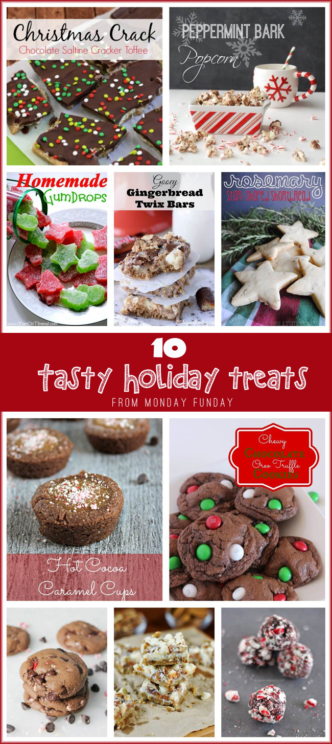 10 Tasty Holiday Treats Round Up from Monday Funday link party